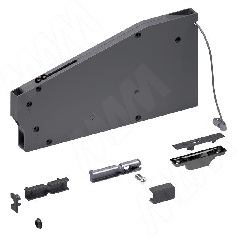 KIARO механизм для открывания фасада, регулируемый, с тросиком (L-600мм), черный никель (46006000YQ) carriwell бандаж дородовой регулируемый на липучках черный l