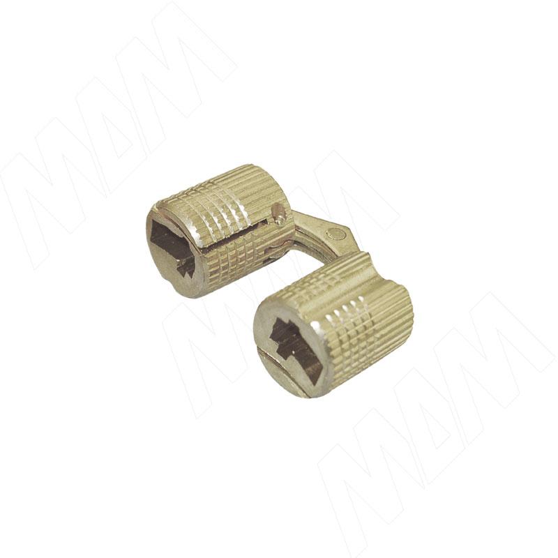 Петля потайная латунь D10, ДСП 16 мм CI-K000 - Купить в интернет-магазине в Москве и России. МДМ. Все для мебели.