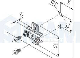 Установочные размеры для площадок HARMONY, PULSE с евровинтами