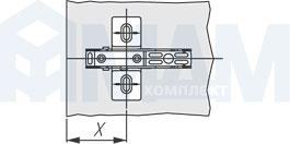 Расстояние X для крестовых установочных площадок