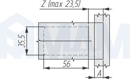 Наклейка адаптера для стекла и зеркала для петли TIOMOS MIRRO, GRASS