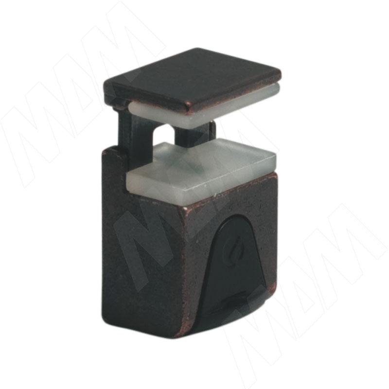 KUBIC Полкодержатель для стеклянных полок толщиной 4-9 мм, под саморез, бронза (1 60200 50 WA) kristal полкодержатель для стеклянных полок толщиной 5 6 мм под саморез никель 1 61130 10 ya