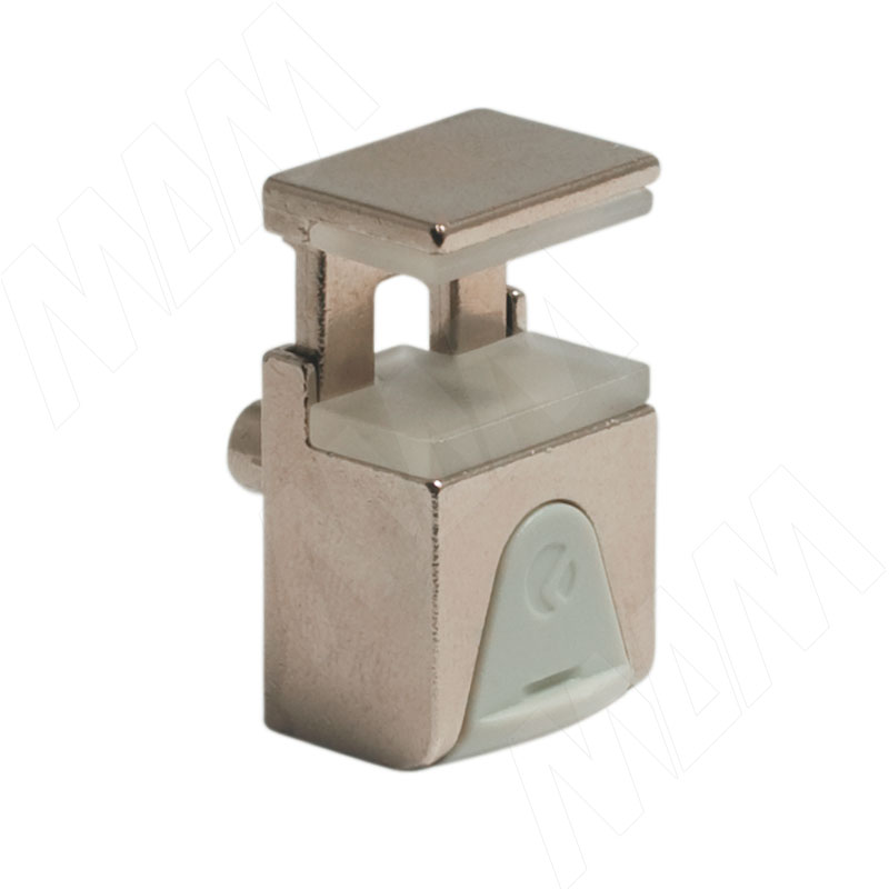 KUBIC Полкодержатель для стеклянных полок толщиной 4-9 мм, со штоком, никель (1 60200 60 YA) полкодержатель для стеклянных полок толщиной 5 8 мм со штоком никель mv08znl