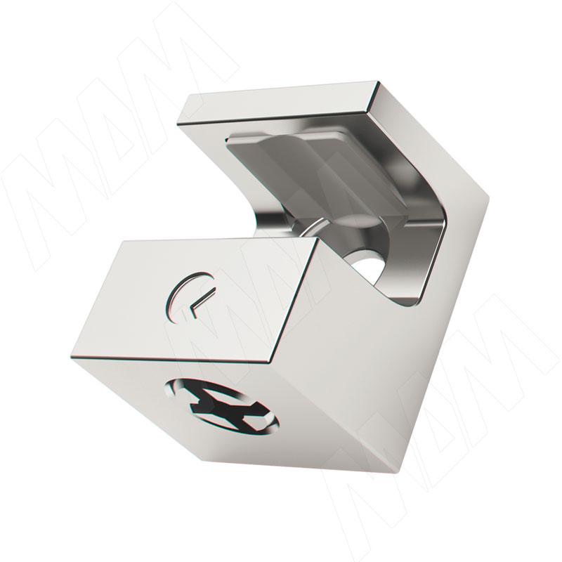 KRISTAL Полкодержатель для стеклянных полок толщиной 5-6 мм, под саморез, хром (1 61130 10 KB) полкодержатель для стеклянных полок толщиной 5 6 мм под саморез никель fa10 ni