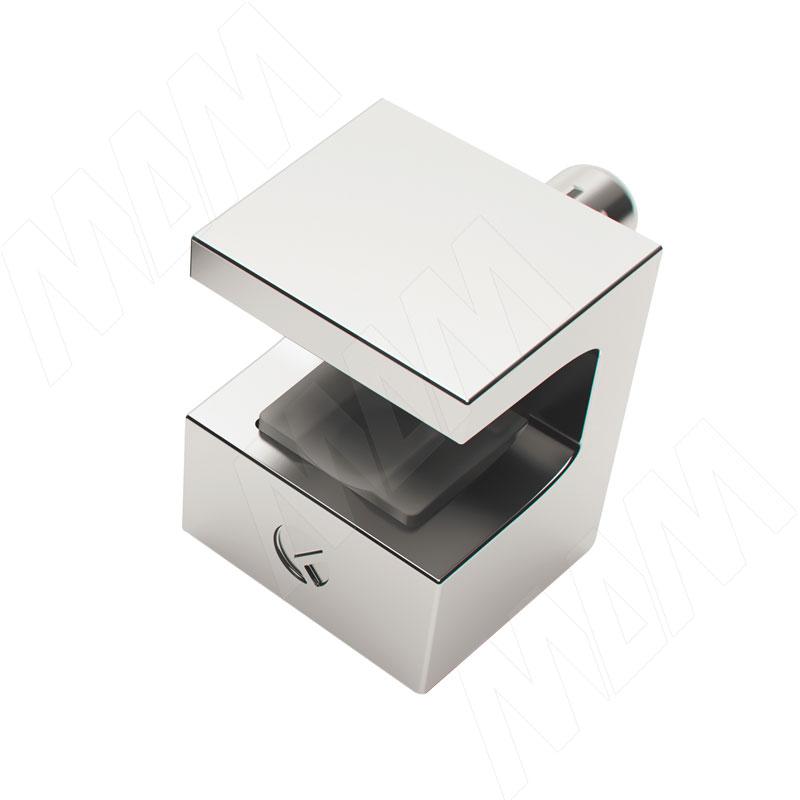 KRISTAL Полкодержатель для стеклянных полок толщиной 5-6 мм, со штоком, хром (1 61130 40 KB) kristal полкодержатель для стеклянных полок толщиной 5 6 мм под саморез никель 1 61130 10 ya