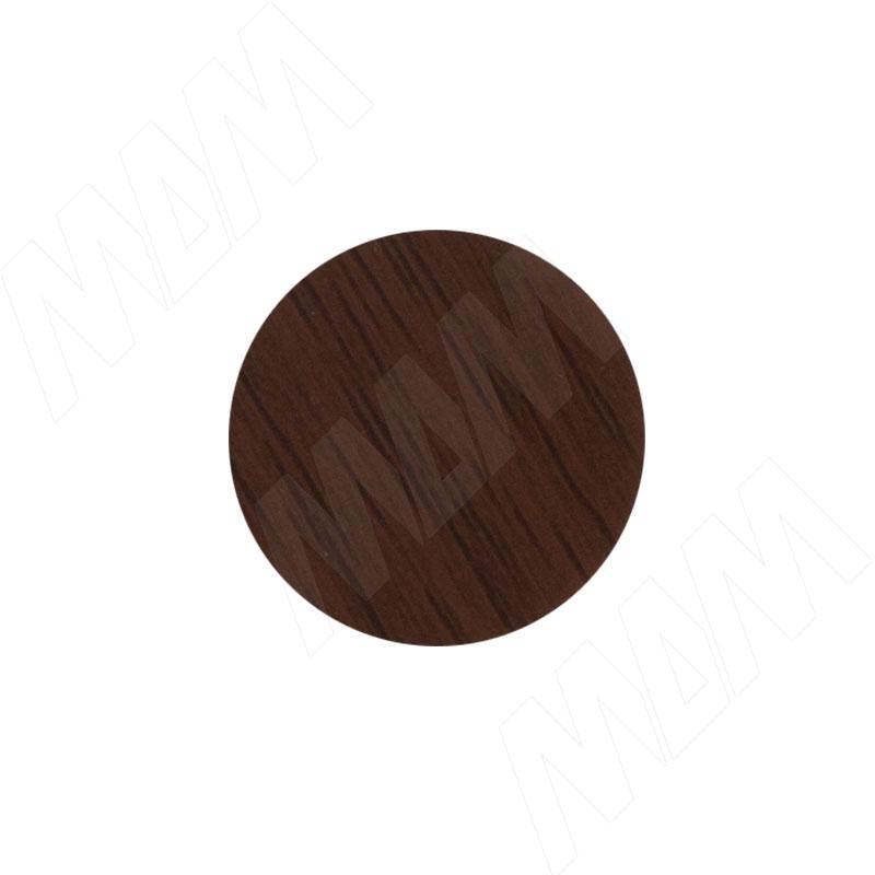 Заглушка самоклеящаяся орех темный, D20 мм (18 шт.) (20.142-HM) заглушка самоклеящаяся вишня оксфорд d20 мм 18 шт 20 074 hm