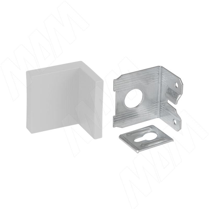 Мебельный навес универсальный, металл, белая пластиковая заглушка, 15 кг (55031-016)