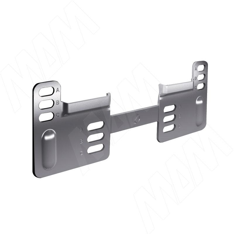 LIBRA WP2 Планка для навесов с вертикальной регулировкой, сталь (6 34500 20 ZN) libra wp13 планка для навесов для коробов нижнего яруса сталь 63450180zn