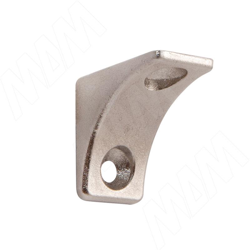 Полкодержатель для деревянных полок с фиксацией, с двумя отверстиями под саморез, никель (AL02 MAXI SQ) полкодержатель для деревянных полок с фиксацией с двумя отверстиями под саморез никель al02 maxi sq