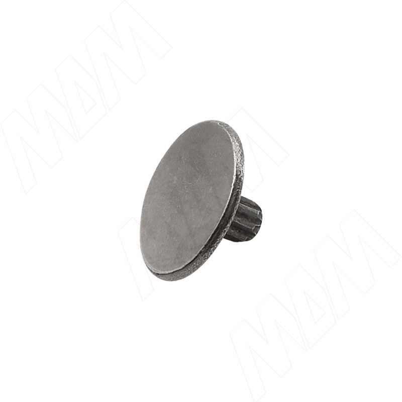 Заглушка металлическая для винта стяжки конической стяжки GR14, черный никель (CF17 NBL)
