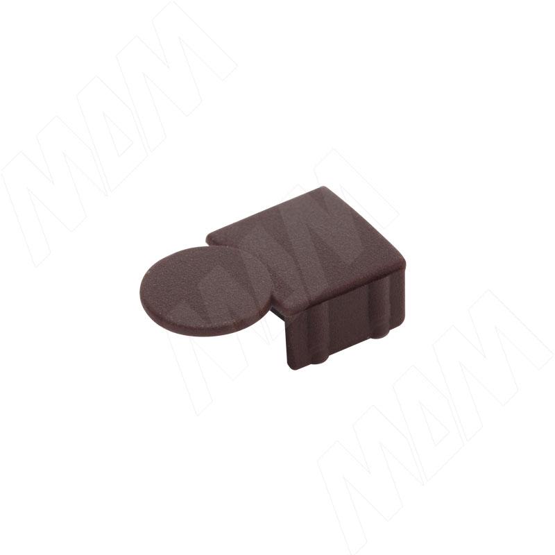 Заглушка для эксцентрика усиленного в пластиковом корпусе, коричневая фото товара 1 - CSE01PMA
