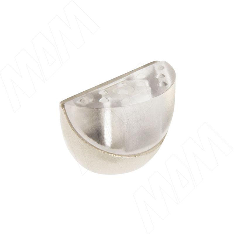 Полкодержатель DUO (никель/прозрачный) (DUO ZNL-PT (к-т))
