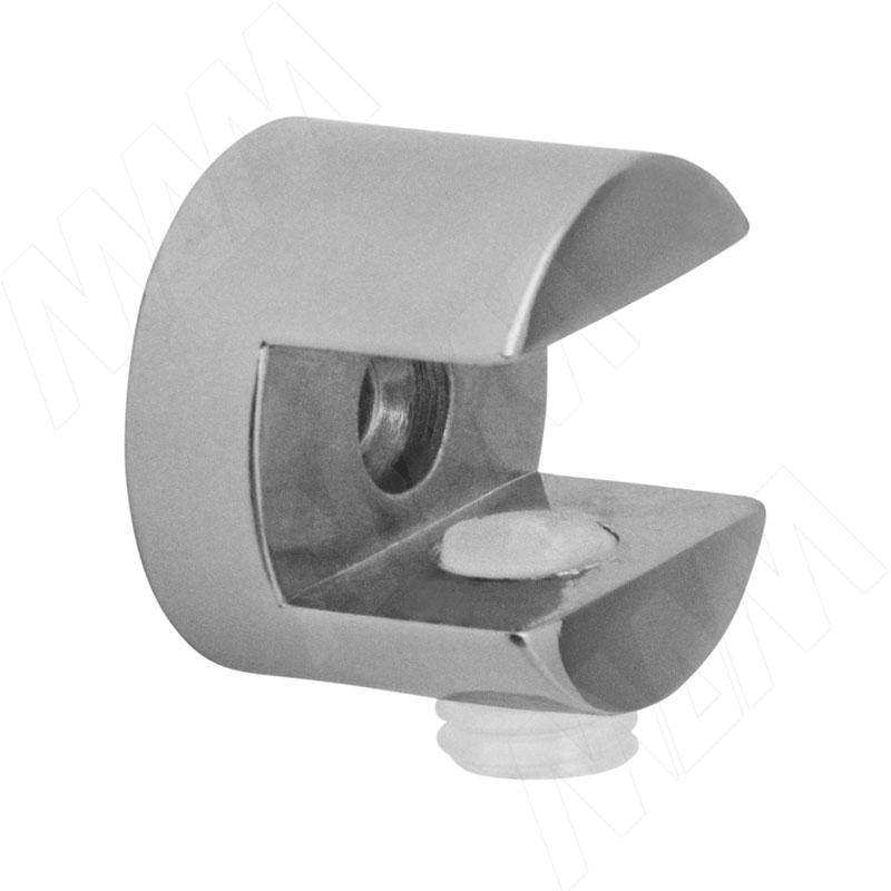 Полкодержатель для стеклянных полок толщиной 6-8 мм, хром (F005) полкодержатель для стеклянных полок толщиной 5 6 мм под саморез никель fa10 ni