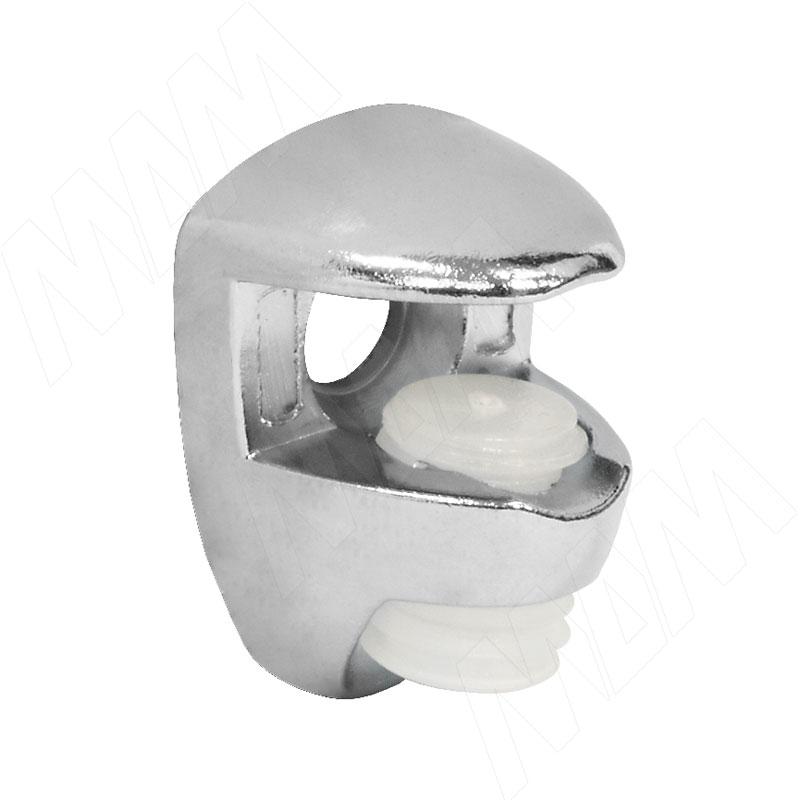 Полкодержатель для стеклянных полок толщиной 5-6 мм, под саморез, хром (FA10 CR) полкодержатель для стеклянных полок толщиной 5 6 мм под саморез никель fa10 ni