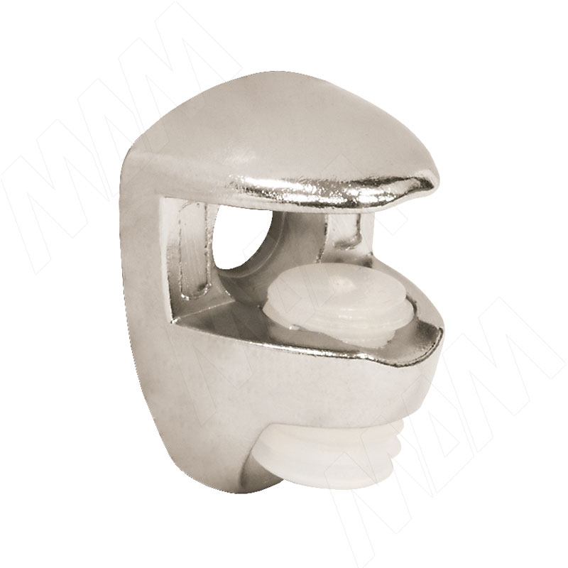 Полкодержатель для стеклянных полок толщиной 5-6 мм, под саморез, никель (FA10 NI) полкодержатель для деревянных полок с фиксацией с двумя отверстиями под саморез никель al02 maxi sq
