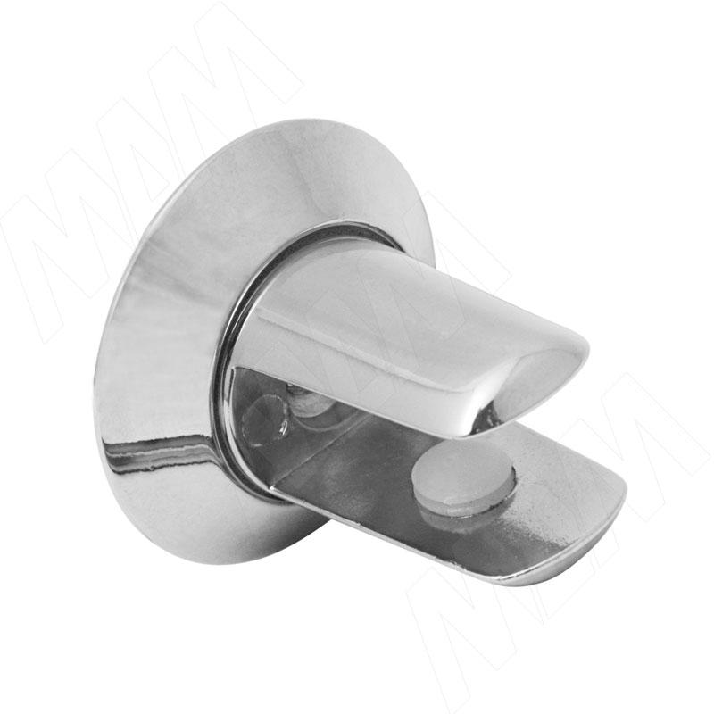 Полкодержатель для стеклянных полок толщиной 8-10 мм, хром (FA19 CR) полкодержатель для стеклянных полок толщиной 8 10 мм золото mv15bzo