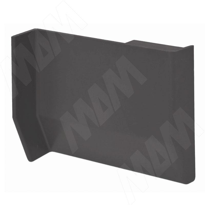 801 Заглушка для мебельного навеса, пластик, графит, левая (K013.C00L.926)