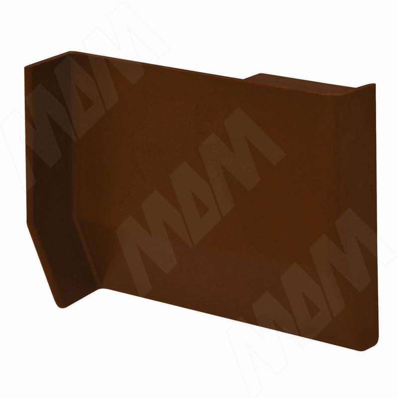 801 Заглушка для мебельного навеса, пластик, темно-коричневая, левая (K013.C00L.972)