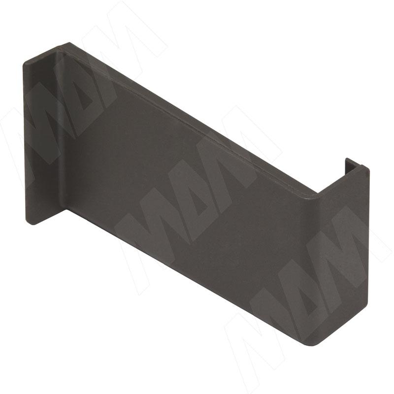 Заглушка для мебельного навеса, пластик, графит, правая (K015.C00R.914/RU)