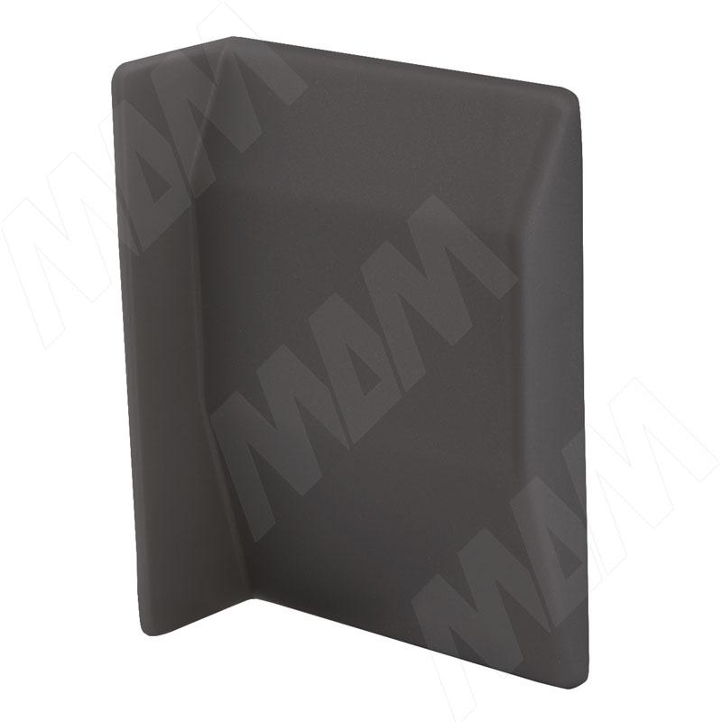 807 Заглушка для мебельного навеса, пластик, графит, левая (K075.C01L.026)