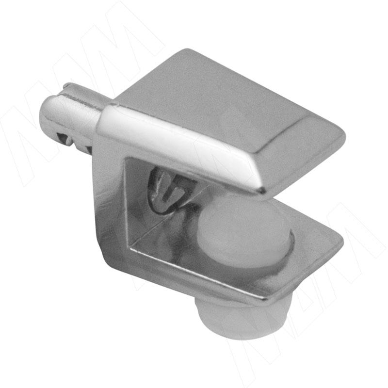 Полкодержатель для стеклянных полок толщиной 5-8 мм, со штоком, хром (MV08-F007) полкодержатель для стеклянных полок толщиной 8 10 мм золото mv15bzo