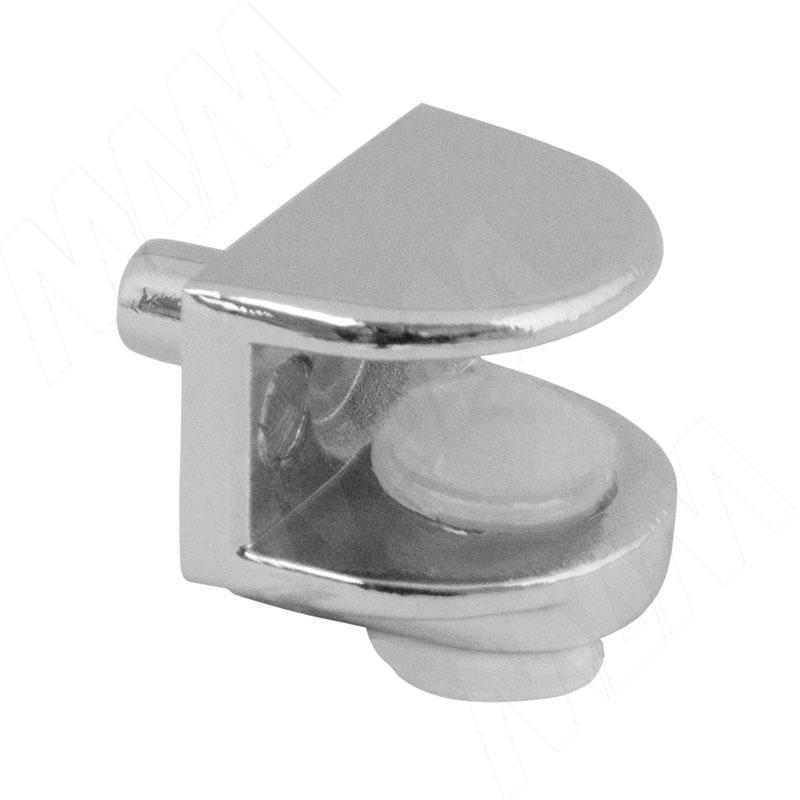 Полкодержатель для стеклянных полок толщиной 5-8 мм, со штоком, хром (MV08-F008) полкодержатель для стеклянных полок толщиной 8 10 мм золото mv15bzo