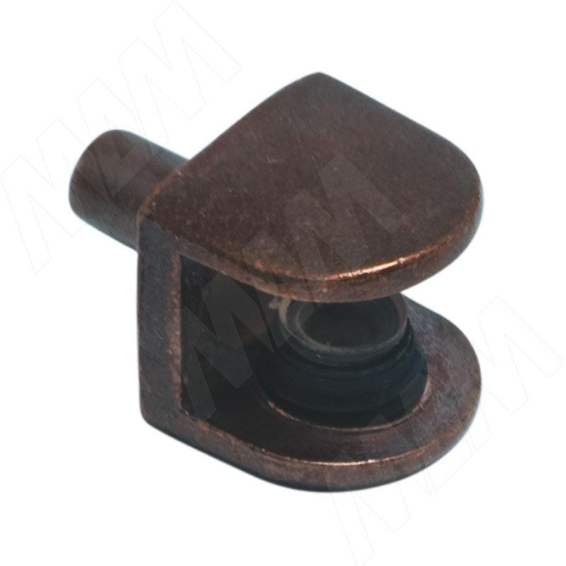 Полкодержатель для стеклянных полок толщиной 5-8 мм, со штоком, бронза (MV08ZBR) полкодержатель для стеклянных полок толщиной 5 8 мм со штоком никель mv08znl
