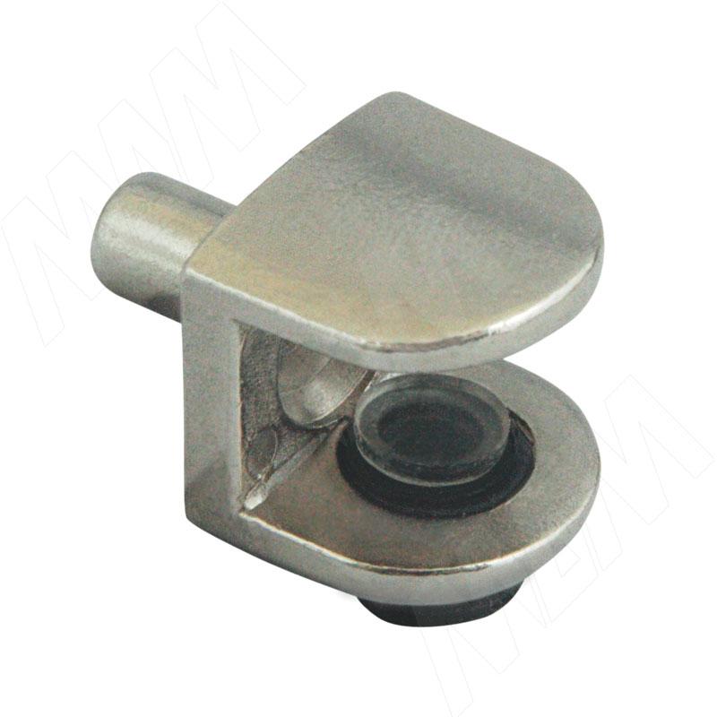 Полкодержатель для стеклянных полок толщиной 5-8 мм, со штоком, никель (MV08ZNL) полкодержатель для стеклянных полок толщиной 5 6 мм под саморез никель fa10 ni