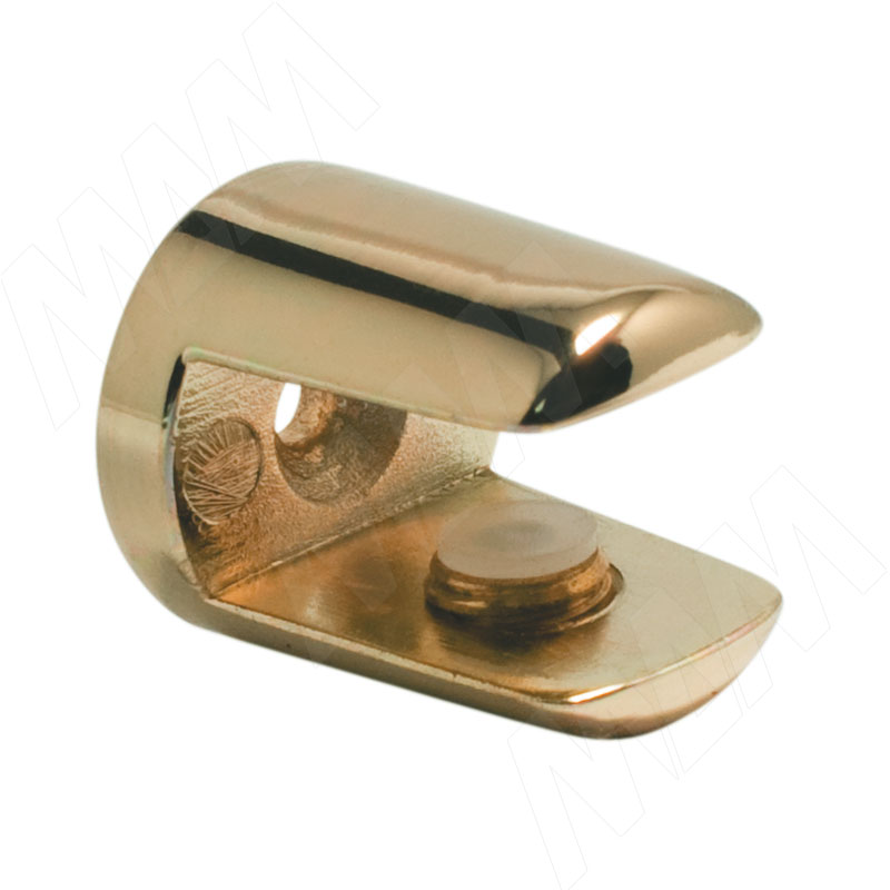 Полкодержатель для стеклянных полок толщиной 8-10 мм, золото (MV15BZO) полкодержатель для стеклянных полок толщиной 5 8 мм со штоком никель mv08znl