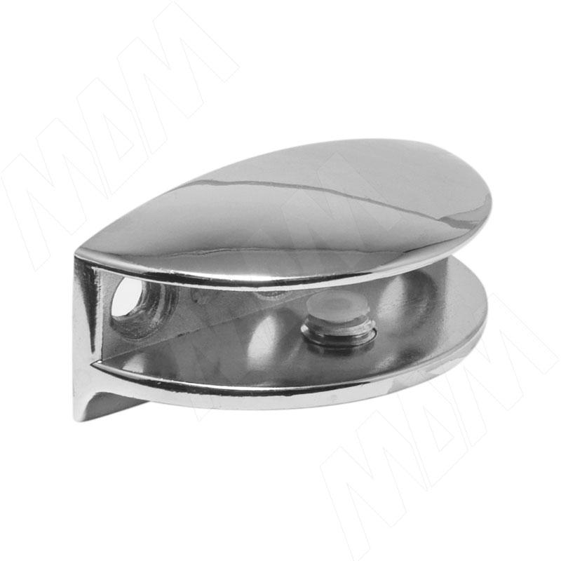 Полкодержатель для стеклянных полок толщиной 8-10 мм, хром (MV16ZCR) полкодержатель для стеклянных полок толщиной 8 10 мм золото mv15bzo