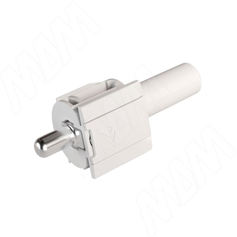 KINTAI Полкодержатель с подпружиненным штоком для деревянных полок с фиксацией (P1903171 AB) полкодержатель для деревянных полок с фиксацией с двумя отверстиями под саморез никель al02 maxi sq