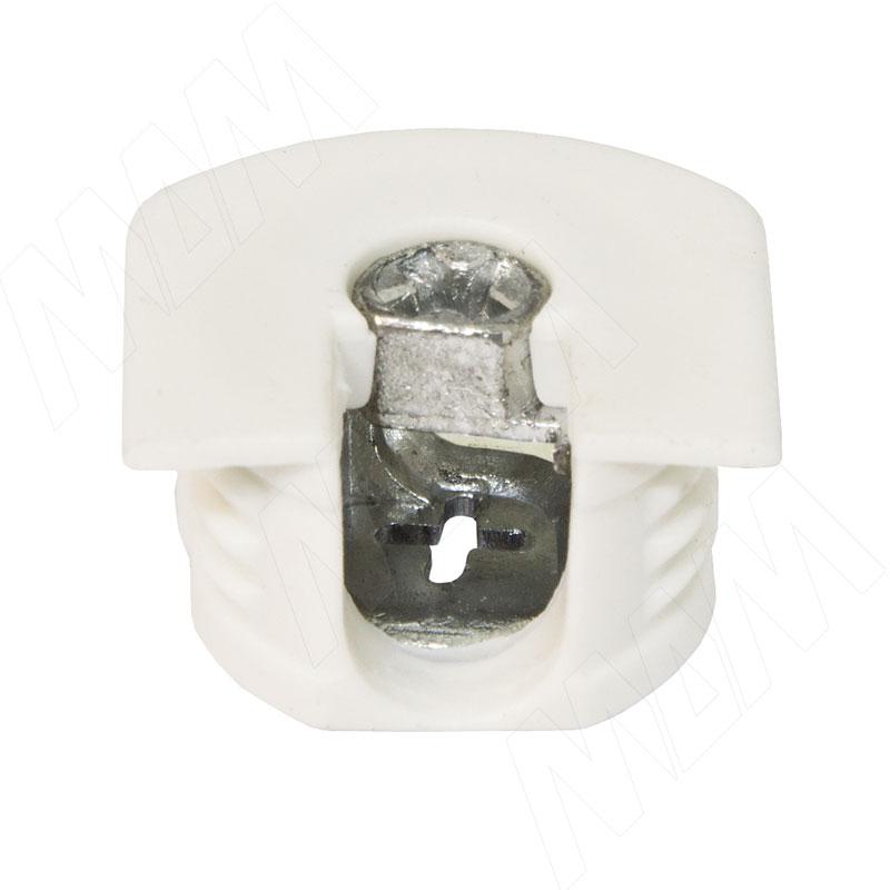 Эксцентрик усиленный в пластиковом корпусе 16 мм, белый фото товара 1 - SE01PB