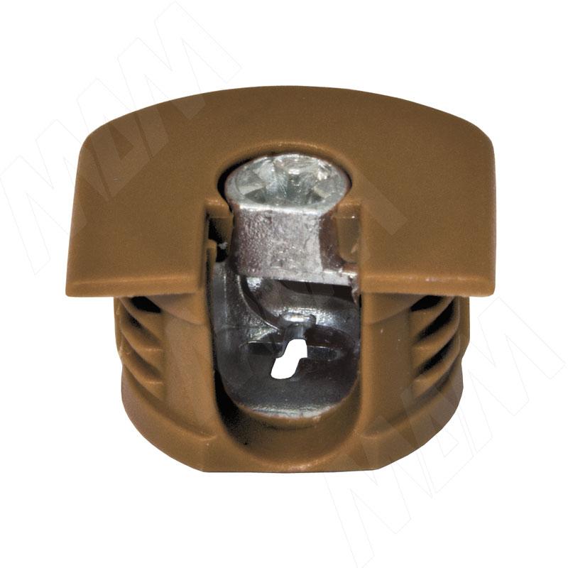 Эксцентрик усиленный в пластиковом корпусе 16 мм, дуб фото товара 1 - SE019