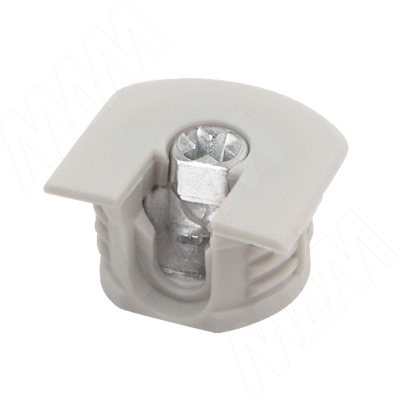 Эксцентрик усиленный в пластиковом корпусе 16 мм с бортиком, серый фото товара 1 - SE043