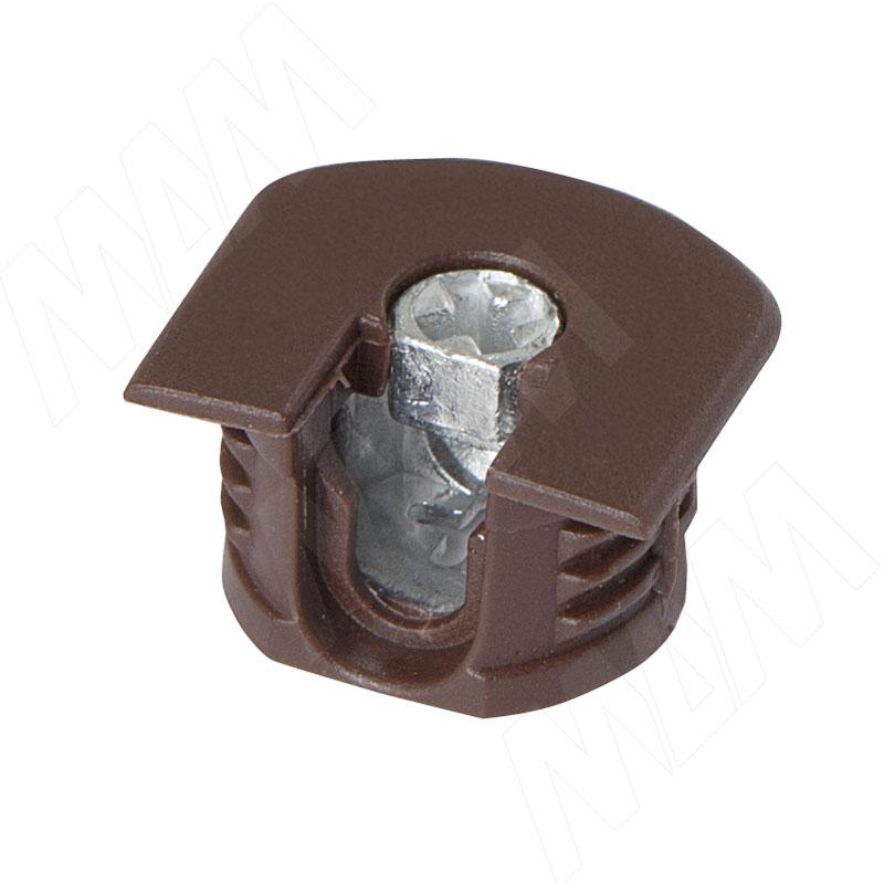 Эксцентрик усиленный в пластиковом корпусе 16 мм с бортиком, коричневый (SE04PMA)