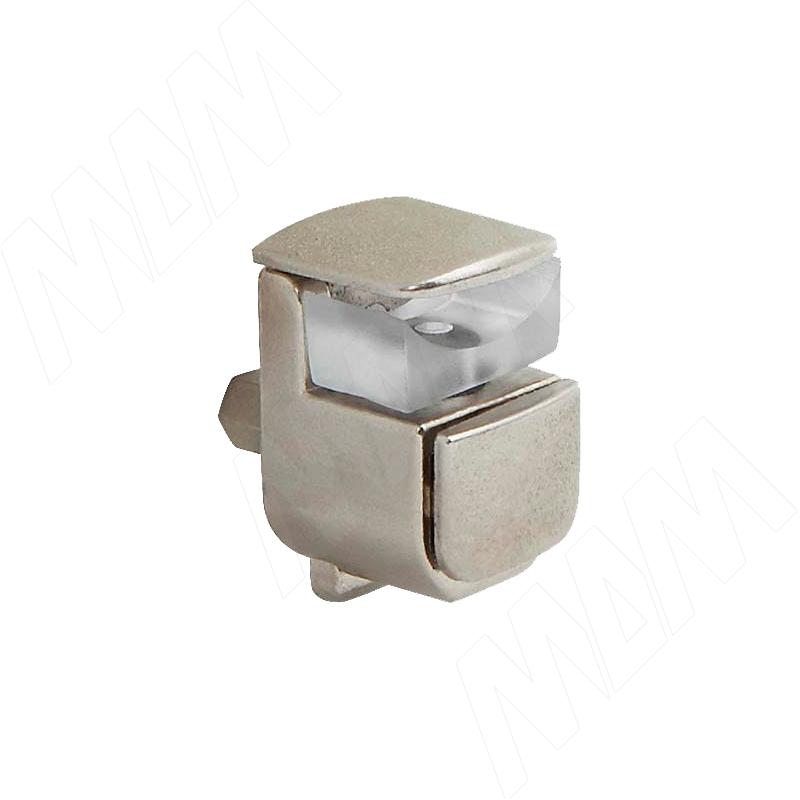 Полкодержатель для стеклянных полок толщиной 4-10 мм, никель (SHG-510 NI)