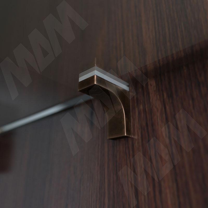 K-LINE Полкодержатель с дополнительным упором для стеклянных полок без фиксации, бронза фото товара 2 - 1 02080 30 WA
