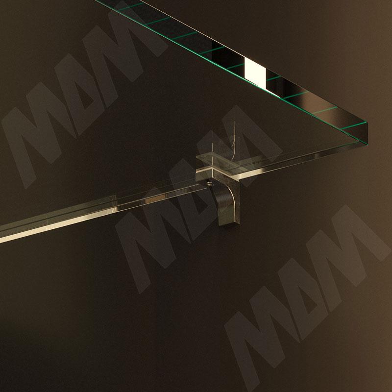 K-LINE Полкодержатель с дополнительным упором для стеклянных полок без фиксации, черный никель фото товара 2 - 1 02080 30 YQ SET