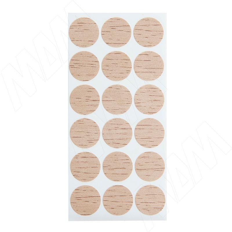 Заглушка самоклеящаяся дуб Бардолино натуральный, D20 мм (18 шт.) фото товара 2 - 20.054-HM