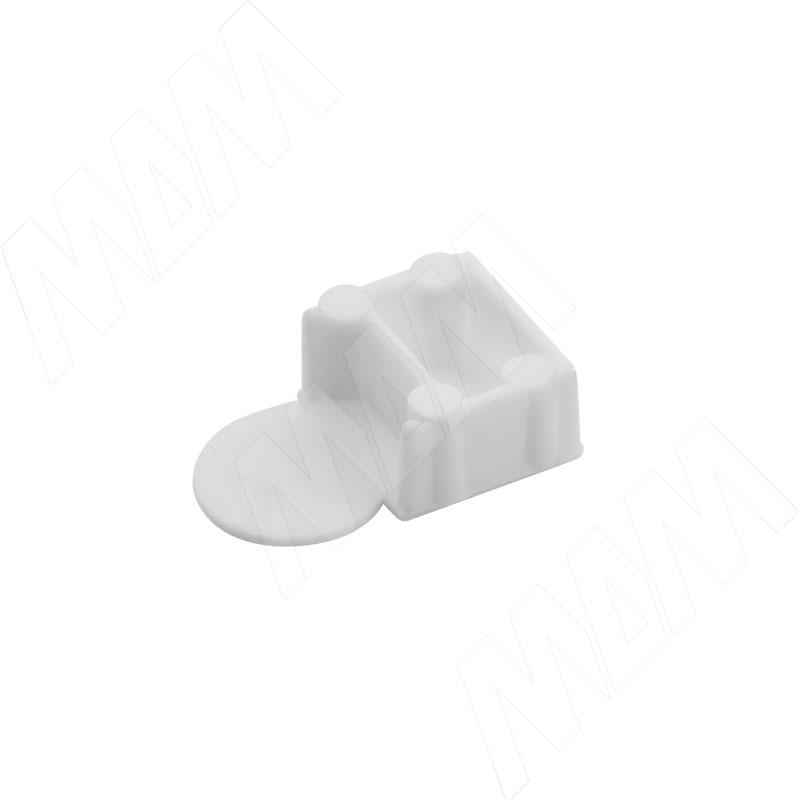 Заглушка для эксцентрика усиленного в пластиковом корпусе, белая фото товара 2 - CSE01PB