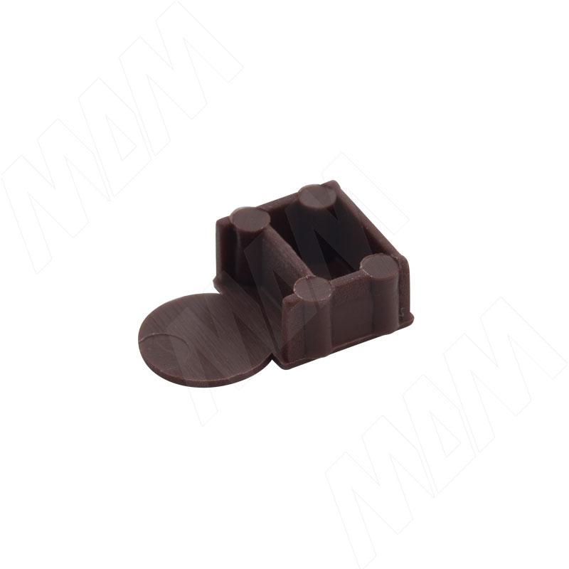 Заглушка для эксцентрика усиленного в пластиковом корпусе, коричневая фото товара 2 - CSE01PMA