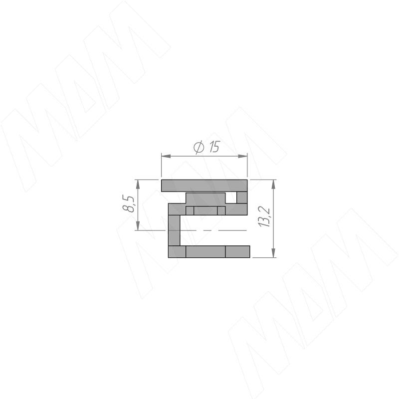 M-FIX комплект эксцентрик + шток для плит толщиной 18 мм, сталь, 1000 штук фото товара 2 - M-FIX18