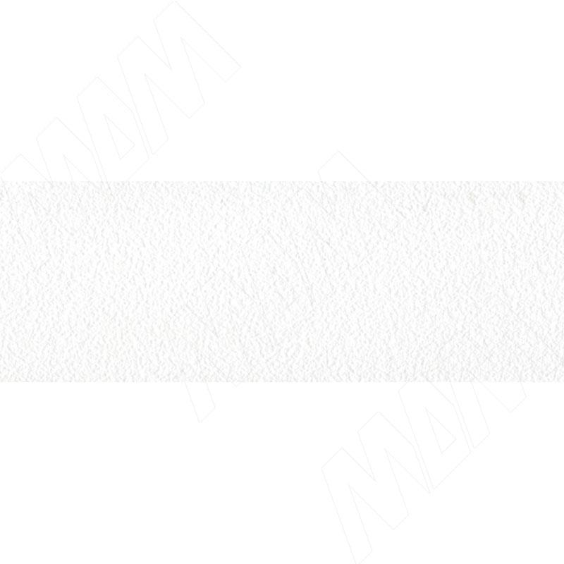 Кромка ПВХ Белый тиснение шагрень (1020-04 19X2 150 M)
