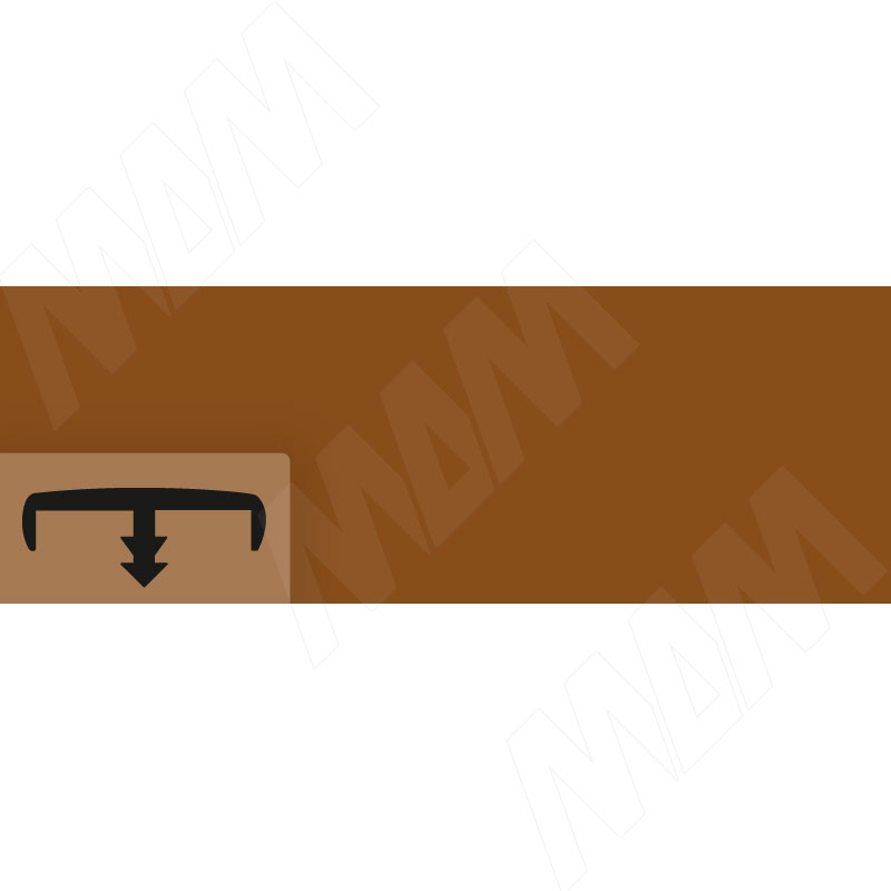 Кант коричневый глянец (C104/16 MA06 /М)