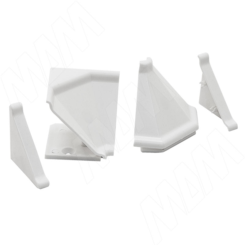 Аксессуары для треугольного плинтуса 32.01R, белый (09.532R.BI) аксессуары для треугольного плинтуса 32 01r черный 09 532r nr