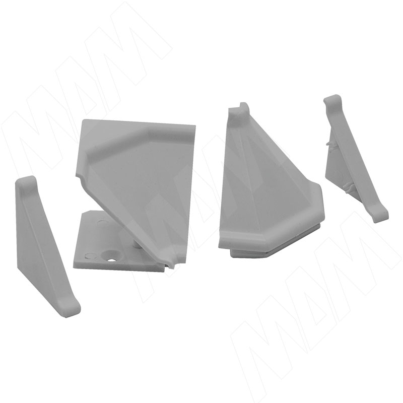 Аксессуары для треугольного плинтуса 32.01R, серый (09.532R.GR)