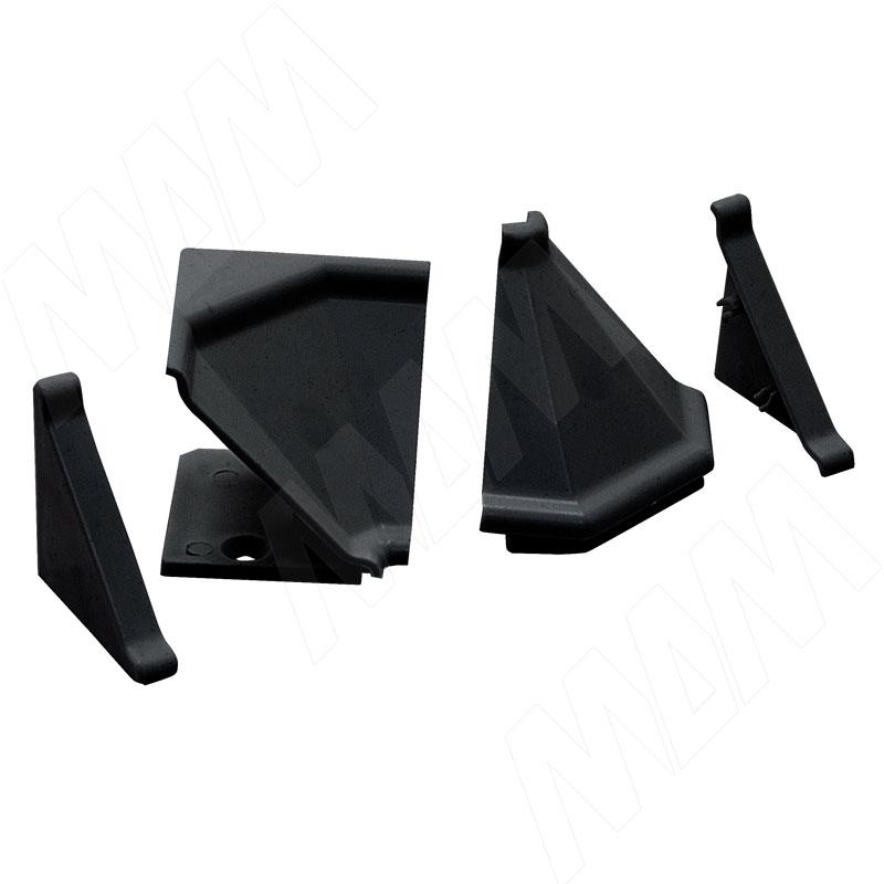 Аксессуары для треугольного плинтуса 32.01R, черный (09.532R.NR)