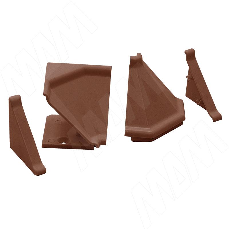 Аксессуары для треугольного плинтуса 32.01R, коричневый (09.532R.RC)