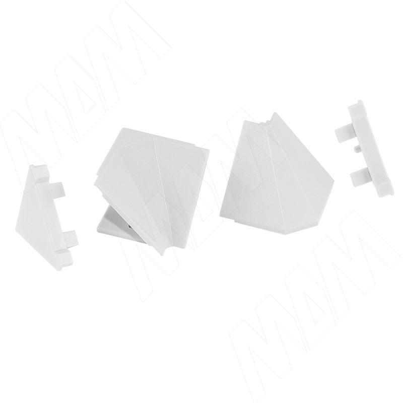 Аксессуары для треугольного плинтуса 34.01R, белый (09.534R.BI)