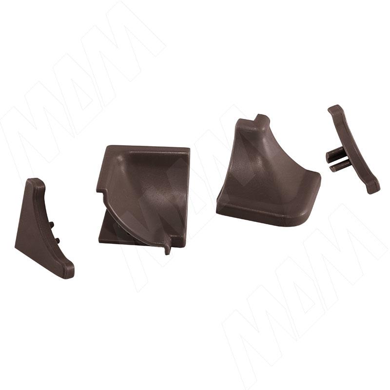 Аксессуары для треугольного вогнутого плинтуса 50.300R.BRMR, бронза (09.550R.BR) аксессуары для треугольного плинтуса белый 09 565 bi